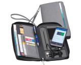 Reisemappe mit integrierter Powerbank